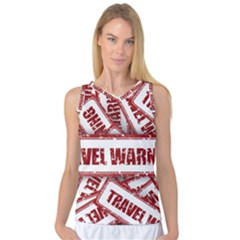 Travel Warning Shield Stamp Women s Basketball Tank Top
