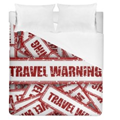 Travel Warning Shield Stamp Duvet Cover (queen Size)