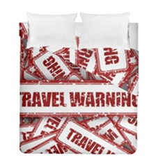 Travel Warning Shield Stamp Duvet Cover Double Side (full/ Double Size)