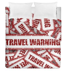 Travel Warning Shield Stamp Duvet Cover Double Side (queen Size)