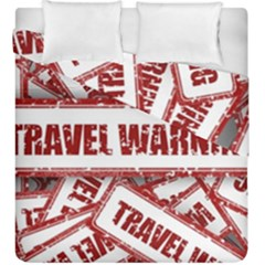Travel Warning Shield Stamp Duvet Cover Double Side (king Size)