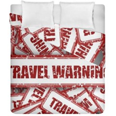 Travel Warning Shield Stamp Duvet Cover Double Side (california King Size)