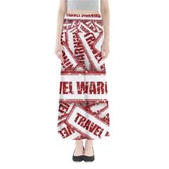 Travel Warning Shield Stamp Full Length Maxi Skirt