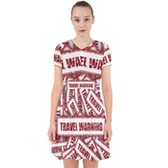 Travel Warning Shield Stamp Adorable In Chiffon Dress