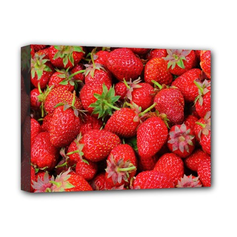 Strawberries Berries Fruit Deluxe Canvas 16  X 12