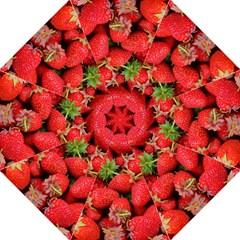 Strawberries Berries Fruit Hook Handle Umbrellas (medium)