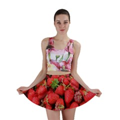Strawberries Berries Fruit Mini Skirt