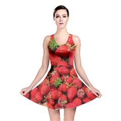 Strawberries Berries Fruit Reversible Skater Dress