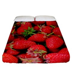 Strawberries Berries Fruit Fitted Sheet (california King Size)