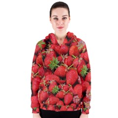 Strawberries Berries Fruit Women s Zipper Hoodie