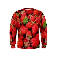 Strawberries Berries Fruit Kids  Sweatshirt