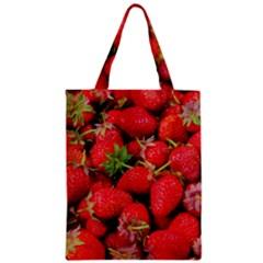 Strawberries Berries Fruit Zipper Classic Tote Bag
