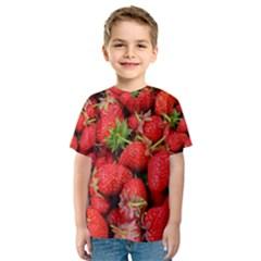 Strawberries Berries Fruit Kids  Sport Mesh Tee