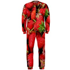Strawberries Berries Fruit Onepiece Jumpsuit (men)