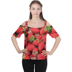 Strawberries Berries Fruit Cutout Shoulder Tee