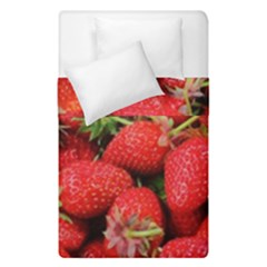Strawberries Berries Fruit Duvet Cover Double Side (single Size)