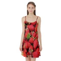 Strawberries Berries Fruit Satin Night Slip