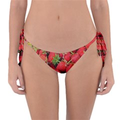 Strawberries Berries Fruit Reversible Bikini Bottom
