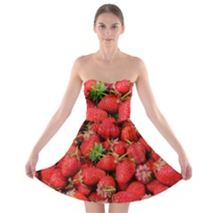 Strawberries Berries Fruit Strapless Bra Top Dress