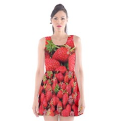 Strawberries Berries Fruit Scoop Neck Skater Dress