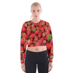 Strawberries Berries Fruit Cropped Sweatshirt