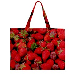 Strawberries Berries Fruit Medium Tote Bag
