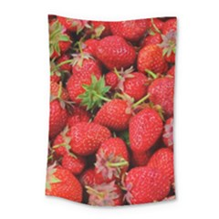 Strawberries Berries Fruit Small Tapestry