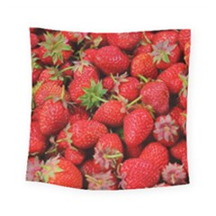 Strawberries Berries Fruit Square Tapestry (small)