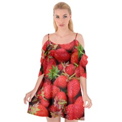Strawberries Berries Fruit Cutout Spaghetti Strap Chiffon Dress