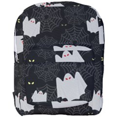 Spider Web And Ghosts Pattern Full Print Backpack
