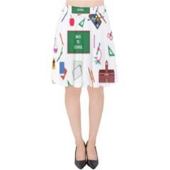 Back To School Velvet High Waist Skirt