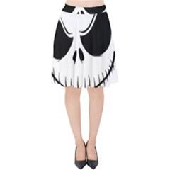 Halloween Velvet High Waist Skirt