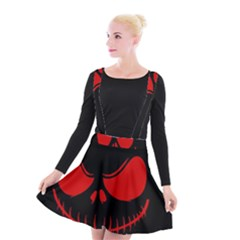 Halloween Suspender Skater Skirt