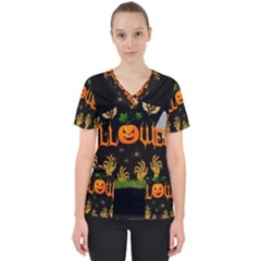 Halloween Scrub Top