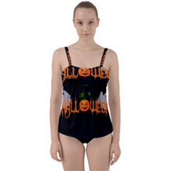 Halloween Twist Front Tankini Set