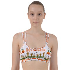 Halloween Line Them Up Sports Bra