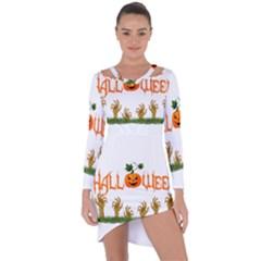 Halloween Asymmetric Cut Out Shift Dress