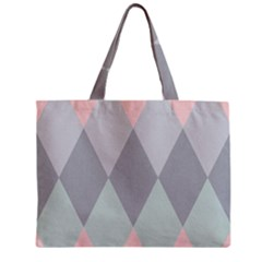 Modern Argyle Mini Tote Bag
