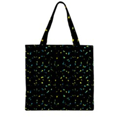 Splatter Abstract Dark Pattern Zipper Grocery Tote Bag