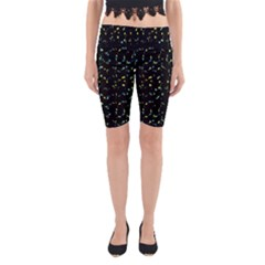 Splatter Abstract Dark Pattern Yoga Cropped Leggings