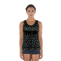 Splatter Abstract Dark Pattern Sport Tank Top