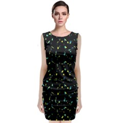 Splatter Abstract Dark Pattern Classic Sleeveless Midi Dress