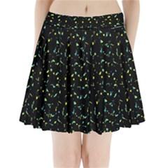 Splatter Abstract Dark Pattern Pleated Mini Skirt