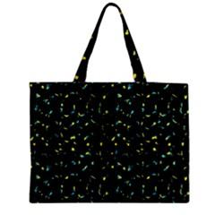 Splatter Abstract Dark Pattern Zipper Medium Tote Bag