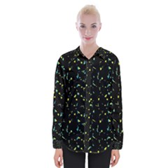 Splatter Abstract Dark Pattern Womens Long Sleeve Shirt