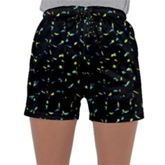 Splatter Abstract Dark Pattern Sleepwear Shorts