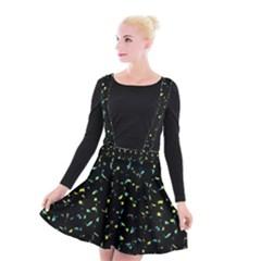 Splatter Abstract Dark Pattern Suspender Skater Skirt