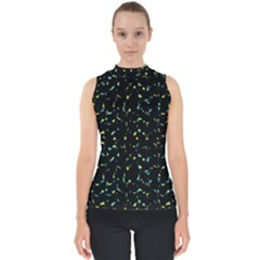 Splatter Abstract Dark Pattern Shell Top