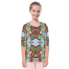 Digital Dot One Kids  Quarter Sleeve Raglan Tee