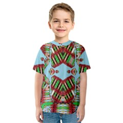 Digital Dot One Kids  Sport Mesh Tee